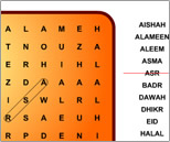 Islamic - Wordsearch puzzle 1